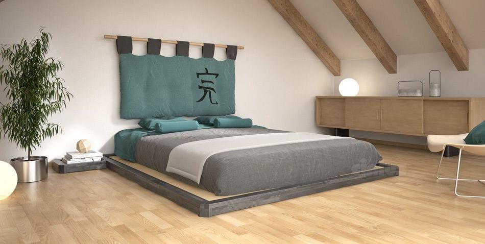 la cama tiene que ser el centro de toda la habitación minimalista