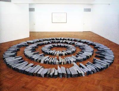escultura minimalista de Richard Long