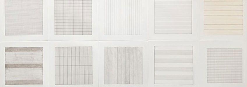El cuadro minimalista más destacado de Agnes Martin