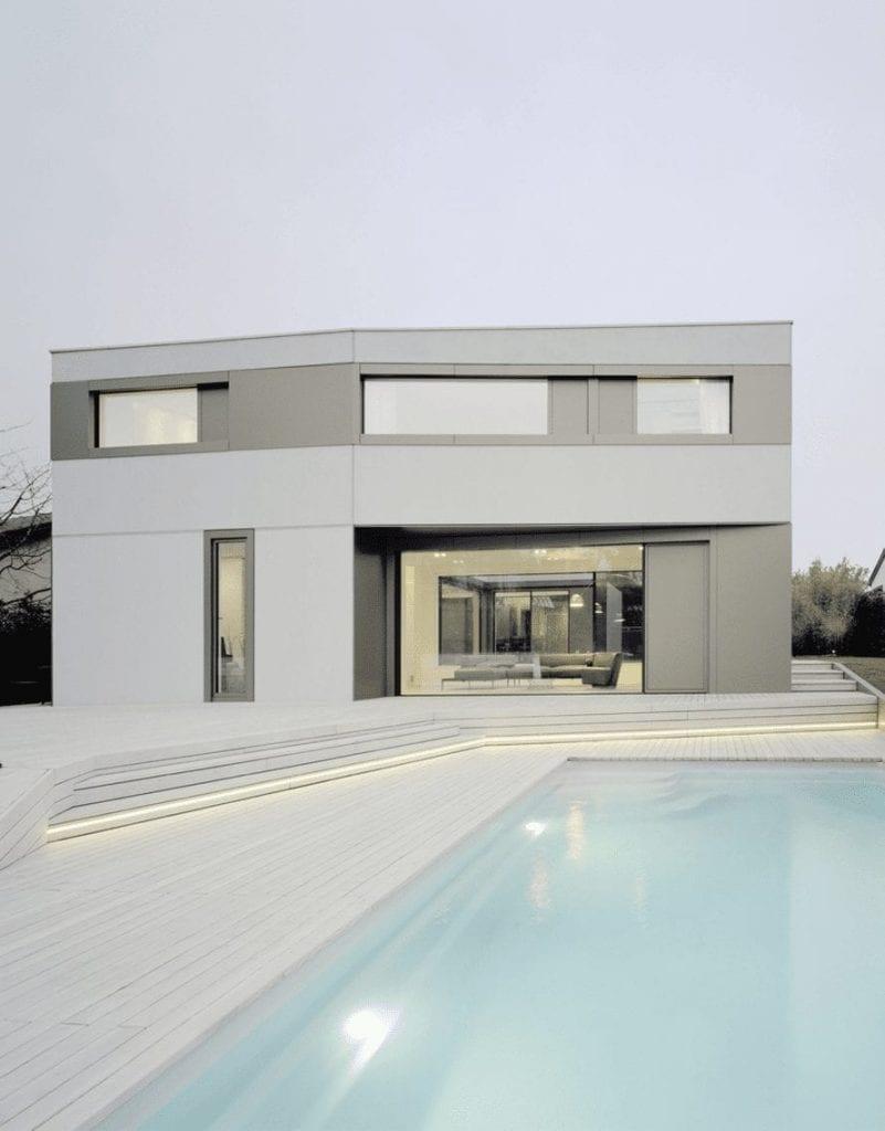 arquitectura moderna minimalista en diseño de casa