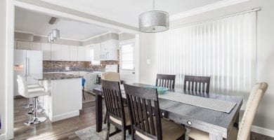 salon cocina minimalista