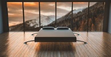 dormitorio recamara minimalista ventanas