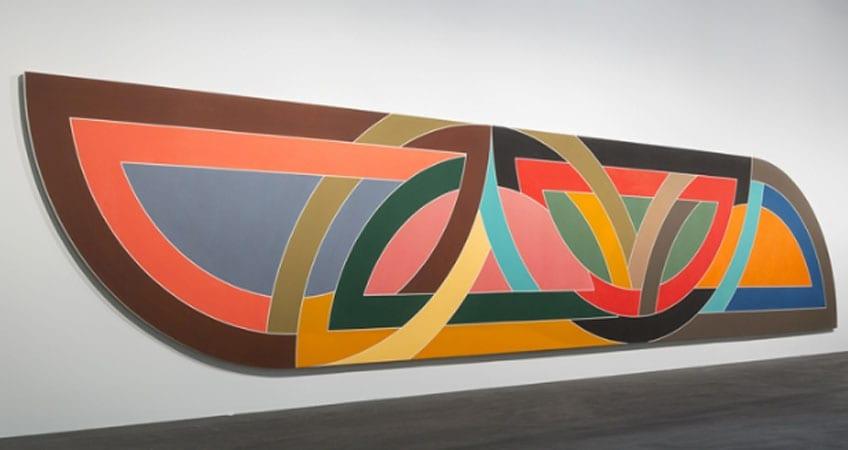 una de las pinturas de Frank Stella más destacadas dentro de la pintura minimalista