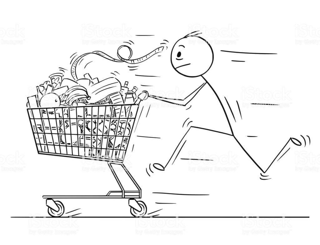 una compra minimalista tiene que ser calmada y sin prisa