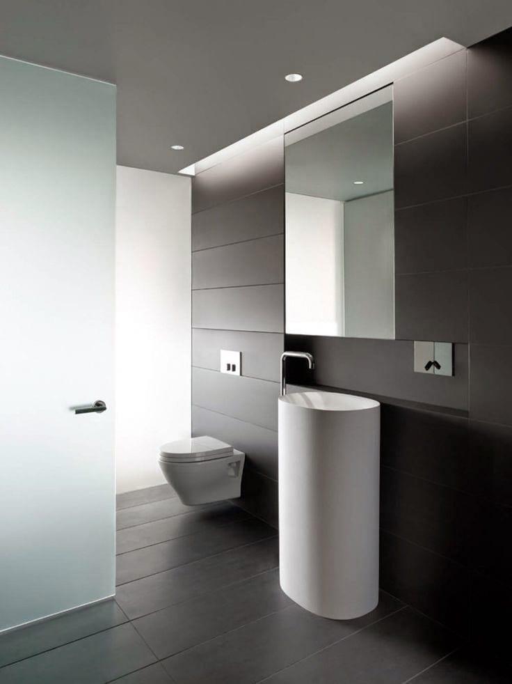 luces de baño minimalistas, casi siempre color blanco frío