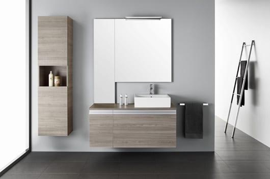 los mejores muebles de baño minimalistas con formación geométrica